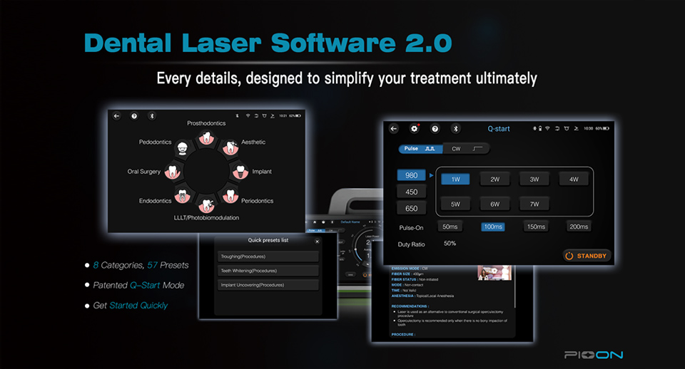 PIOON Dental Laser 2.0 Software