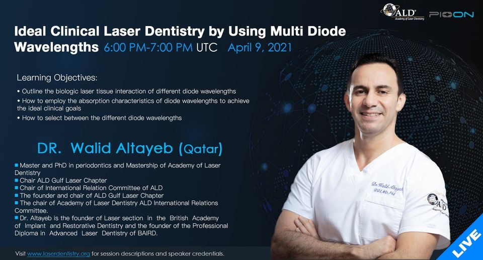 Join us online and discover the latest in Laser Dentistry!